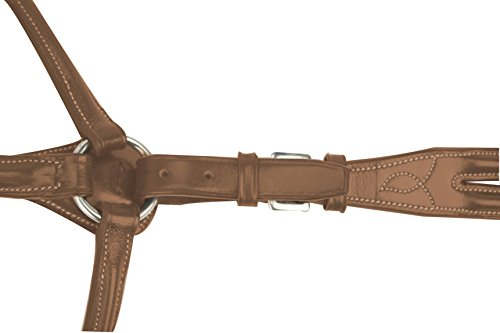 Square Raised Breastplate (Silverleaf Square Raised Breastplate with Standing Attachment - Size:Pony Color:)