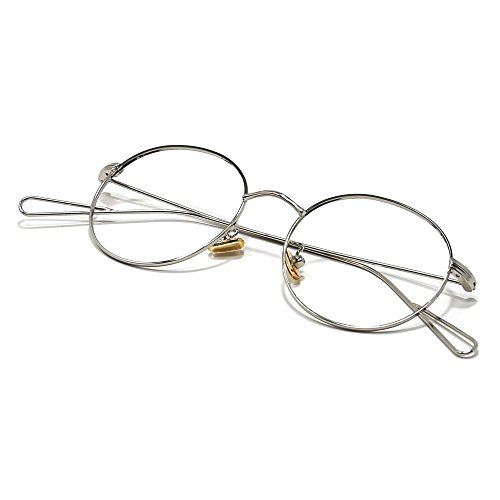 Slocyclub Slim Metal Frame Eyeglasses Round Avaitor Retro Glasses Mens And - Cooling Glasses Online