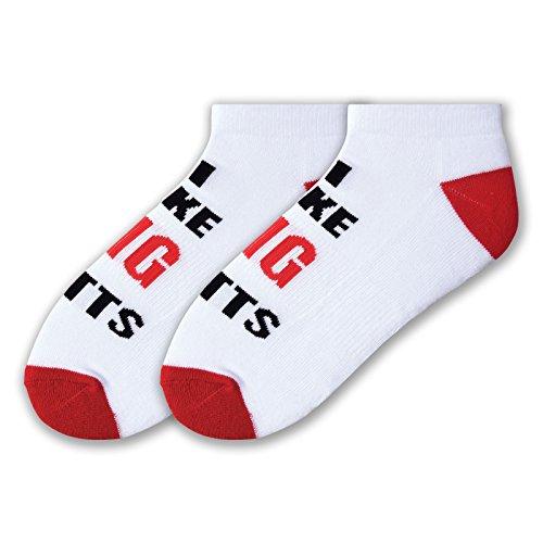 K. Bell Socks Men's Novelty Golf Graphic Crew Socks, Big Putts (White), Shoe Size: - Socks Bell K Golf