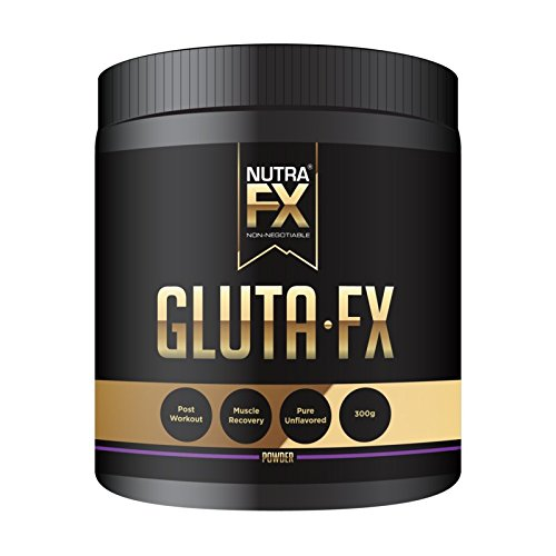 NUTRAFX L-Glutamine Unflavored Powder Post Workout Muscle Building Supplement 5000mg Per Serving - 60 Servings