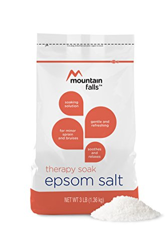 - Mountain Falls Soothing & Relaxing Therapy Soak Epsom Salt for Muscle Soreness & Fatigue Soaking Solution, 3 Pound