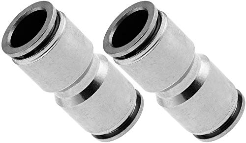 Vixen Air Push to Connect (PTC) Union/Joint Straight Pneumatic Fitting for 1/2