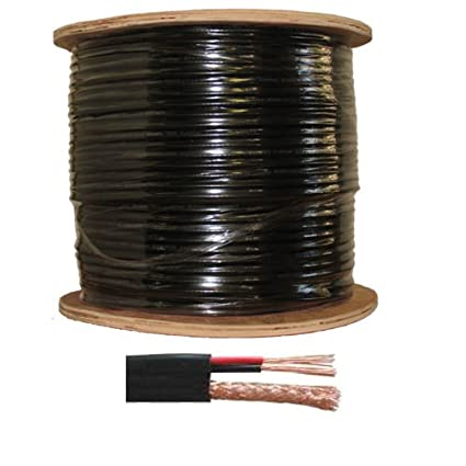 1000 Feet Spool Power Video Cable RG59/18/2 Siamese Cable Wide Cord RG59