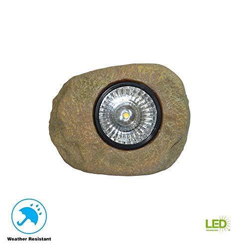 (Hampton Bay 1-Light Solar Outdoor Integrated LED Rock Spot Light)