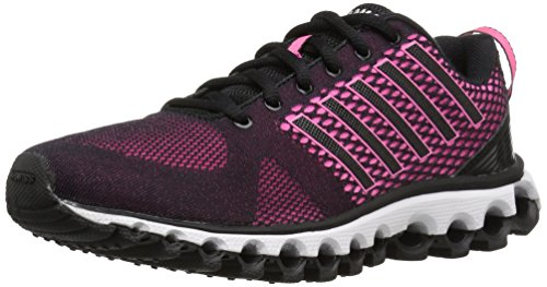 K-Swiss Women's x-180 Cross-Trainer Shoe, Black/neon Pink/Silver, 6 M US