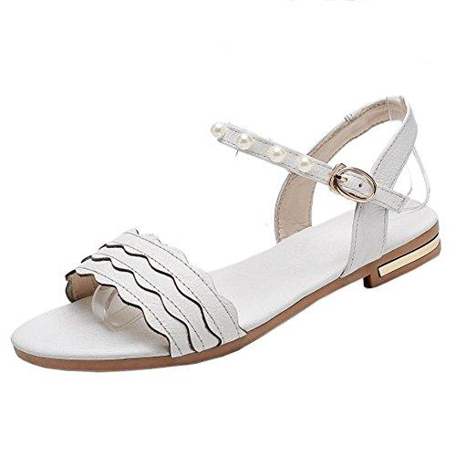 TAOFFEN Casual Plates White Sandales Femmes qfwwRx7v