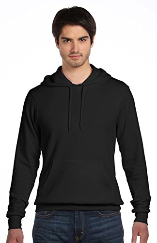 Pullover Bella Hooded (Bella + Canvas Unisex Poly-Cotton Fleece Pullover Hoodie, Small, Digital Black)