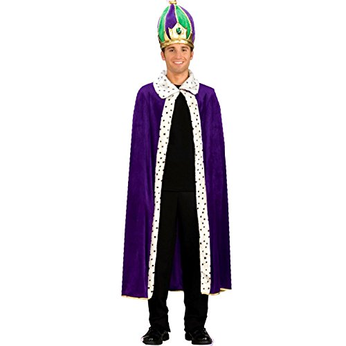 King Crown In Purple (Forum Mardi Gras King Robe and Crown Set, Purple/Green/Gold, Adult)