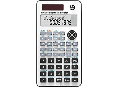 HP-10 S+ Hewlett Packard Schulrechner 2-zeillige Anzeige - Solar und Batterie - weiß
