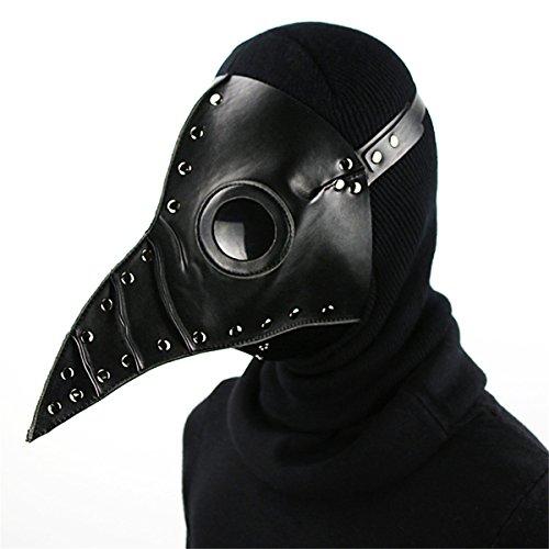Qhome Steampunk Plague Beak Mask Gothic Cosplay Retro