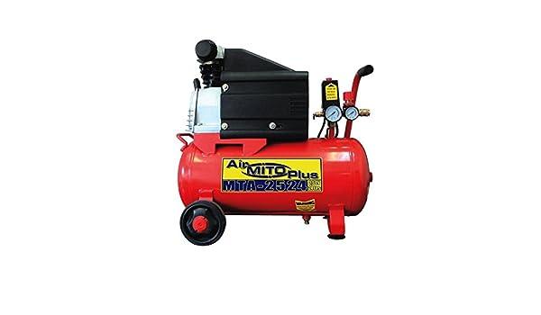 Compresor de aire MITO MTA-2524. 2,5HP 24 litros. Lubricado.: Amazon.es: Bricolaje y herramientas