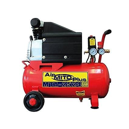 Compresor de aire MITO MTA-2524. 2,5HP 24 litros. Lubricado.