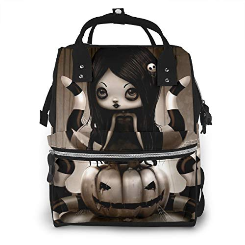 Halloween Doll Diaper Bag Backpack Maternity Baby Nappy Changing Bags Shoulder Bag Organizer Multi-Function Travel Backpack -