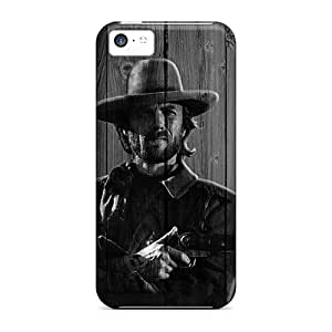 Excellent Iphone 5c Case Tpu Cover Back Skin Protector Clint Eastwood On Wood