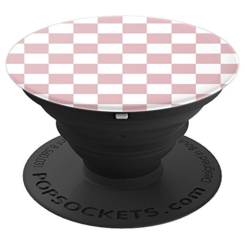 Checkerboard Pink and White | Check Pattern / Checkered - PopSockets Grip and Stand for Phones and Tablets