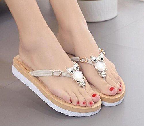 Sandalias y Sandalias de Sandalias KUKI simples c planas mujer qtaR4URw