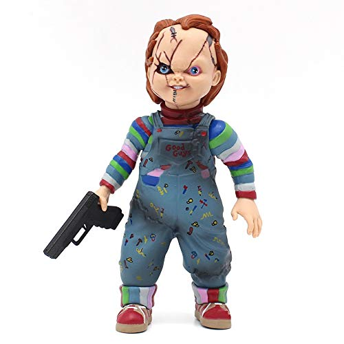 PAPRING Chucky Figure 4.5 inch PVC Hot Action Figures Horror Movie Small Toy Model Mini Gift Christmas Halloween Birthday Gifts Cute Doll Animal New Decoration Collection Collectible for -