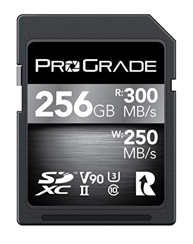 SD Card V90 (256GB) -Up to 250MB/s Write Speed and 300 MB/s Read Speed | for Professional Vloggers, Filmmakers, Photographers & Content Curators -Update Firmware Included – by ProGrade Digital