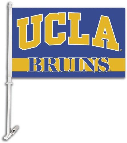 NCAA UCLA Bruins Car Flag with Free Wall Bracket