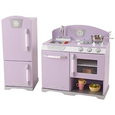 KidKraft Lavender Retro Kitchen Refrigerator