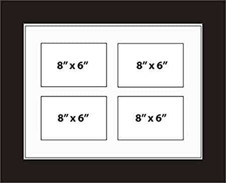 Kwik Picture Framing | MULTI APERTURE PHOTO FRAME FITS 4 8x6 PHOTOS ...