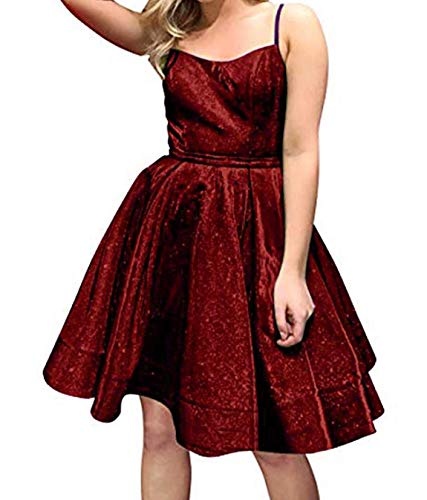 Sherry Bridal Women's Sparkly Homecoming Dresses for Juniors 2019 Short Cocktail Party Dresses SH70 Burgundy 06