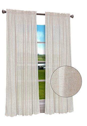 Euphoria CaliTime High Class Linen Blend Window Curtain Pane