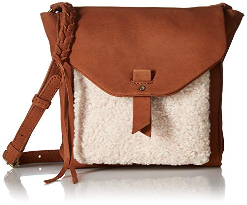Lucky Pria Small Crossbody, umber/natural (Brand Flap Cross Bag Leather Body Lucky)