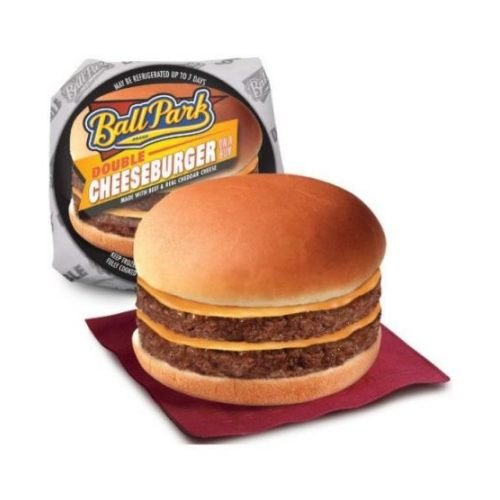 Ball Park Double Cheeseburger, 6.6 Ounce - 12 per case.