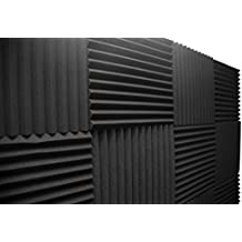 "Acoustic Foam Panels; Studio Wedge Tiles; 12 Pack; 1"" X 12"" X 12"""