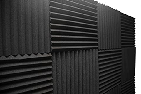 Acoustic Foam Panels; Studio Wedge Tiles; 12 Pack; 1