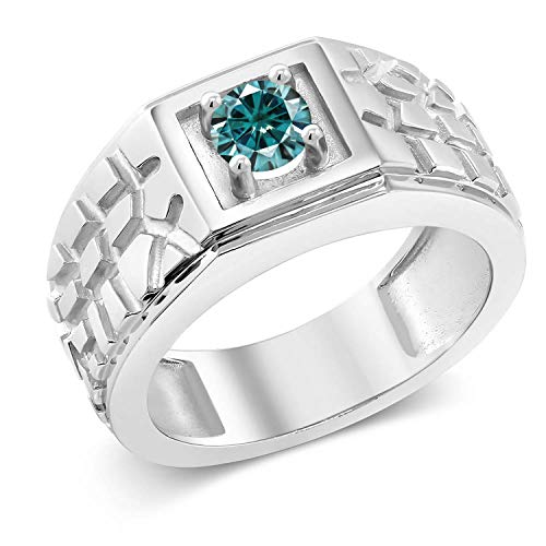 Created Moissanite Gents Ring - 1