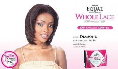 (FreeTress Equal FUTURA Whole Lace Wig - DIAMOND - F1B/30 OFF BLACK/MED)