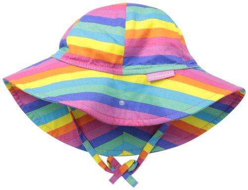JoJo Maman Bebe Baby-Girls Newborn Floppy Hat, Rainbow, 0-6 Months