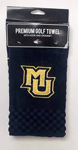 NCAA Marquette Golden Eagle Embroidered Golf Towel Eagles Embroidered Golf Towel