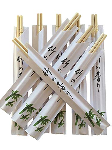 (Albino Monkey 200 Round Chinese Chopsticks Disposable Best For Sushi Bamboo Wooden Chop Sticks - Disposable Chopsticks - Bamboo Cutlery - Disposable Utensils)