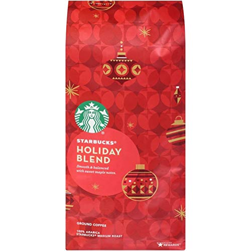 Starbucks Coffee – 2019 Holiday Blend Or Christmas Blend Coffee - Ground Coffee Or Whole Coffee Beans (2019 Holiday Blend - Ground)