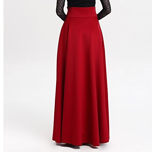 Confortable Femme 5XL Taille Rouge Longues Vin Dames Vintage S Jupe Haute Maxi lgante de Jupes Jupes Serpillire Doux vq4BngnwA