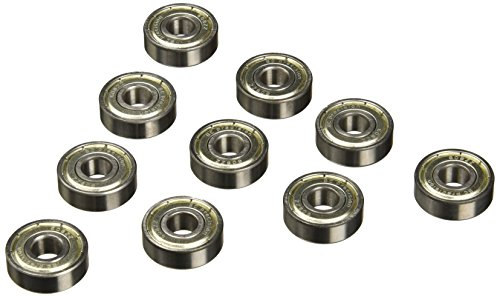One Hundred (100) 608ZZ 8x22x7 Shielded Greased Miniature Ball Bearings
