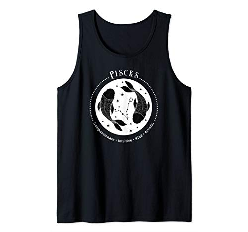 (Pisces Zodiac Sign Horoscope Astrology Birthday T-Shirt Tank Top)