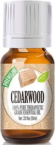 Healing Solutions Cedarwood Premium 100% Pure, Best Therapeutic Grade Essential Oil - 10ml