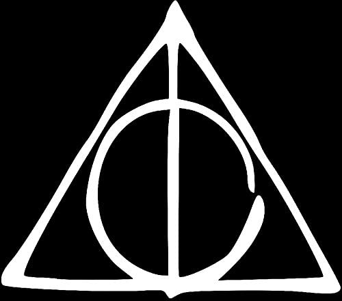 Laptop Stickers and any Flat surface Ipad Windows Harry Potter deathly hallows Sticker for Cars//Trucks Mac Air Bikes Apple Macbook Black, 3.1