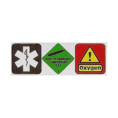 Medical Gas And Oxygen Carried Car Sticker Dcs45 Interior