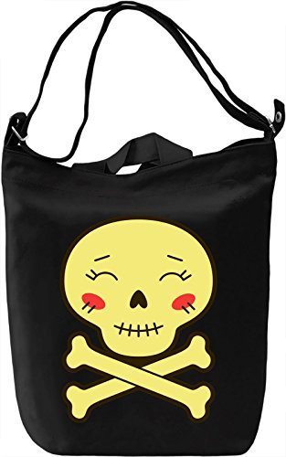Cute skull Borsa Giornaliera Canvas Canvas Day Bag| 100% Premium Cotton Canvas| DTG Printing|