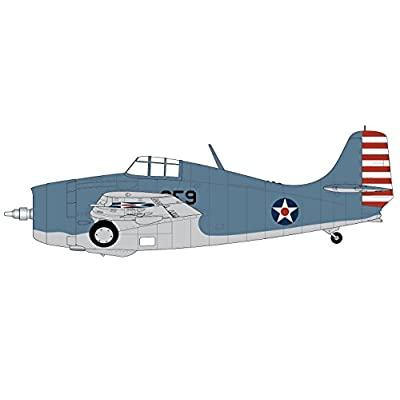 Airfix 1:72nd Scale WWII Grumman F4F-4 Wildcat Plastic Model Kit: Toys & Games