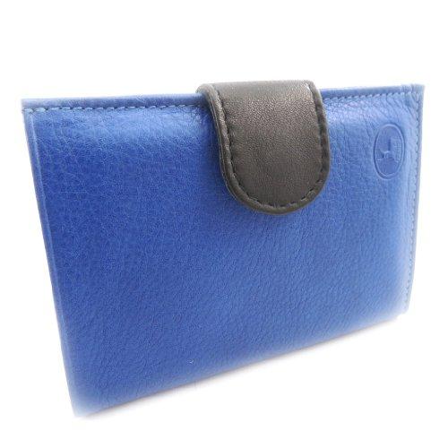 Wallet Black europeo Pelle 'frandi' Blue HCqXHwr6