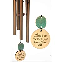 Prime Best Seller Memorial Gift Sympathy Wind Chime PRIME Rush Shipping for Funeral Loss in Memory of Loved One Copper Listen to the Wind Memorial Garden Remembering a loved one