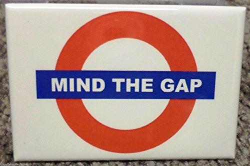 Mind The Gap MAGNET 2 x 3 Refrigerator Tube British UK Subway Warning