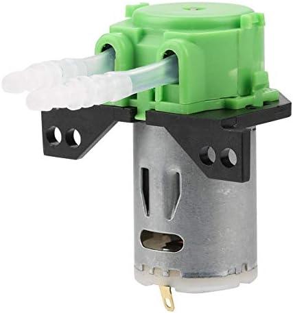Naroote Schlauchpumpe, DC12V/24V Dosierpumpe DIY Schlauchkopf für die chemische Analyse im Aquariumlabor(grün 12v 3 * 5)