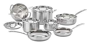 Cuisinart Multiclad Pro Triple Ply Stainless Steel 12-Pc. Set